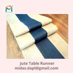Multicolor Jute Table Runner, Size: Customizable