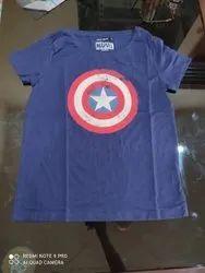 92elmnts Half Sleeve Girls T Shirt 0, Size: Large