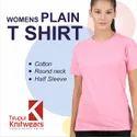 Cotton Half Sleeve Womens Plain Blank T Shirts