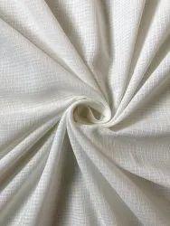 Handwoven White Self Checks, For Dress