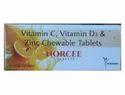 Norcee Vitamin C, Vitamin D3 & Zinc Chewable 500mg Tablets, 100 Tablets
