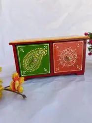 Arnav Arts Wooden Storage Drawer, Size/Dimension: 8x4x4inch