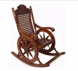 119 X 63 X 114 Cm Weight: 3 Kg Wooden Rocking Chair, Finish: Glossy