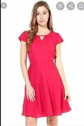 Party Wear Printed Women Western Dresses, Size: S-xxl Mix