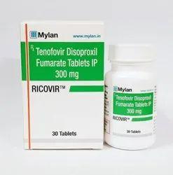 Ricovir Tenofovir Disoproxil Fumarate IP 300mg