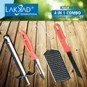 Multicolor Stainless Steel Combo Pack 4 In 1, For Multipurpose Use