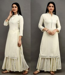 Rayon Plain Mohini Dress, Unisex