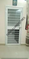 Ivory Galvanized Metal Single Leaf French Doors, For Home