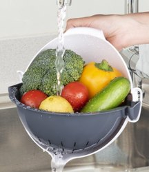 Green Plastic Vegetable Washing Bowl