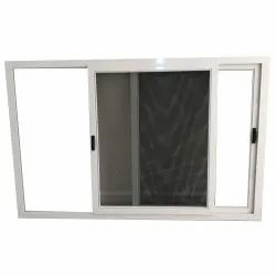 Residential White UPVC Mosquito Mesh Window, Glass Thickness: 4 Mm