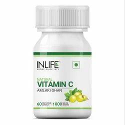 Inlife Natural Plant Based Vitamin C Amla Extract For Immunity 1000mg - 60 Vegetarian Capsules