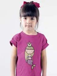 6 Sprikles Cotton Girls Mermaid Princess Printed T Shirt