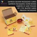 Saffron Blister Packaging Cards
