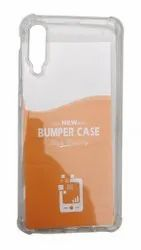 Leather Transparent Samsung A50S Mobile Back Cover