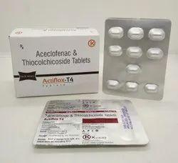 Aceclofenac & Thiocolchicoside Tablet (Actiflox T4)