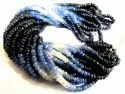Natural Blue Sapphire Shaded Beads 3-4mm Superfine Quality Burma Sapphire Beads Strand 8 Inches Long