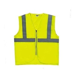 Unisex Yellow Polyester Safety Jacket