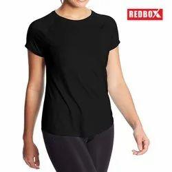 Half Sleeve Round Women Premium Gym Raglan T-Shirt