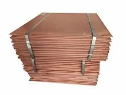 Square Copper Cathode Scrap, For Electric Wire, Grade: AA