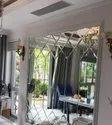 Rectangular Wall Paneling Pattern Glass, Glass Thickness: 35 Mm