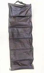 Board Shoe Rack Cloth 6 Tier Black Shoe Rack