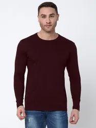 Hosiery Plain Men Bio Washed Round Neck Full Sleeves, Size: XS-XXL