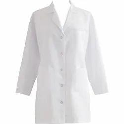 AMAR LINEN White Doctor's Apron Knee Long, For hospital, laboratory