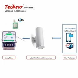 TECHNO Single Phase Energy Meter with LoRa Gateway, 240