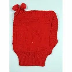 Kids Red Skull Woolen Cap
