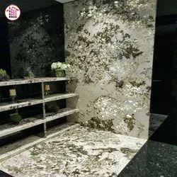 White/Grey Granite Brazil Backlit Block Brazil Exotic Gold Alpinus Granite