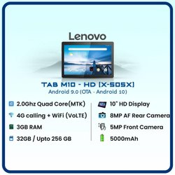 Lenovo Tab M10 - HD With 4G Calling