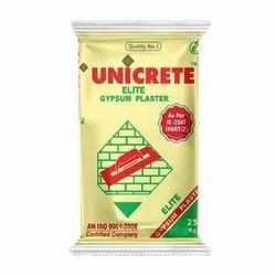 Unicrete Elite Gypsum Plaster, Grade Standard: A Grade, Packaging Size: 25 Kg