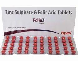 Zinc And Folic Acid Tablets