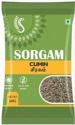Sorgam Cumin Seeds Jeera, 50 GM, Packaging Type: PACKING