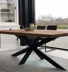 MS Iron Cross Leg Restaurant Dining Table