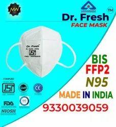 博士新鲜可重复使用5层N95高级认证面罩,无阀门