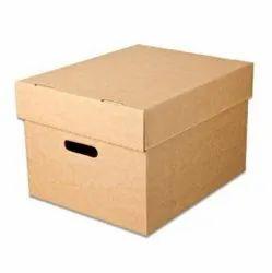 Brown Rectangular Plain Cardboard Duplex Box, For Gift And Craft Packaging, 1.5 X 1 X 1.5 Feet