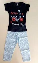 own Cotton Girls Pyjama Set, Size: Kids