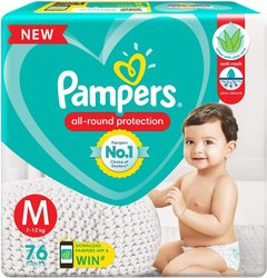 Baby Diapers Pampers, Size: Medium