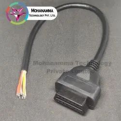Female/jack Obd2 16 Pin Connector Cable, For Power