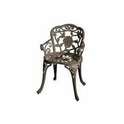 Brown Outdoor Chair Cast Iron Chairs, Size: Standard