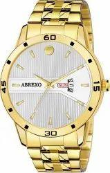 Abrexo Abx1223-White Golden Analog Watch
