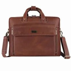 Hammonds Flycatcher Genuine Vintage Leather Brown 15.6 Inch Dual Compartment Laptop Messenger Bag