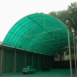 PVC Green Car Parking Shed, Thickness: 5mm