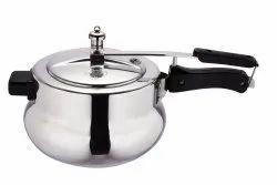 Silver Aluminium Handi Pressure Cooker, For Home, Capacity: 3 Litre