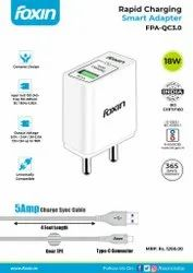 Ampere: 3amp Smart Adapter Foxin Rapid Charging with 5AMP Type-C (1.2 meter) QC3.0