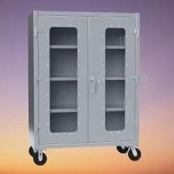 4feet Silver Hospital Storage Steel Cabinet, Polished, | ID: 23462769862