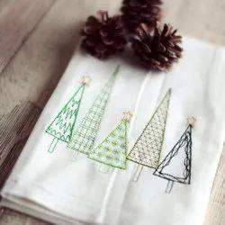 Check Cotton Christmas Kitchen Towel Tea Towel, Wash Type: Mahine Wash, 85 Grams