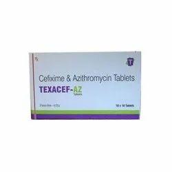 Texacef-AZ Cefixime & Azithromycin 250mg Tablets, 10 Tablets