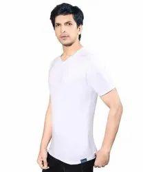 Mens Cotton White T Shirt